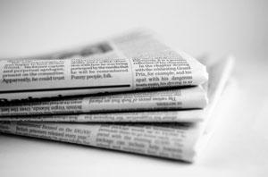 traditional newspaper photo