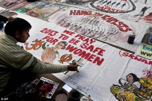 Indian anti-rape protestors image